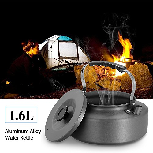 Docooler 1.6L Ultralight Camping Water Kettle Outdoor Coffee Pot for Hiking and Picnic