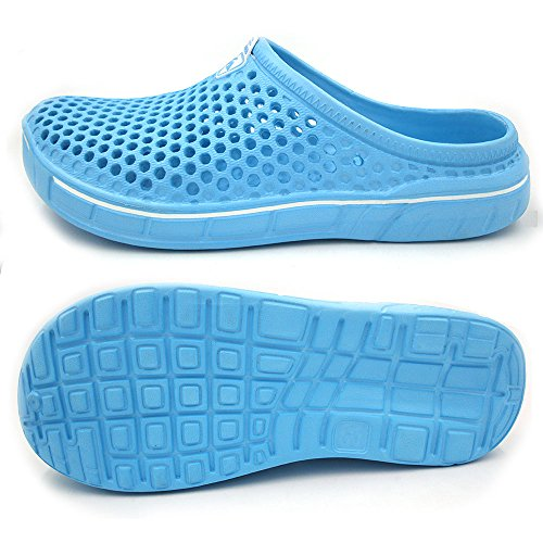 Amoji Unisex Garden Clogs Shoes Sandals Slippers Lightblue yKo3d8i
