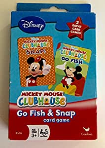 Disney Mickey Mouse Clubhouse Go Fish and Snap Card Games by Cardinal