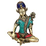 Statuestudio Handicraft Lord Indra Dev Inlay Statue