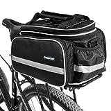 Campstoor Mountain Bike Bag 600D multi-functional Oxford Waterproof Bicycle Bag Cycling Rear Seat Trunk Bag Panniers Bicycle Accessories (Black)