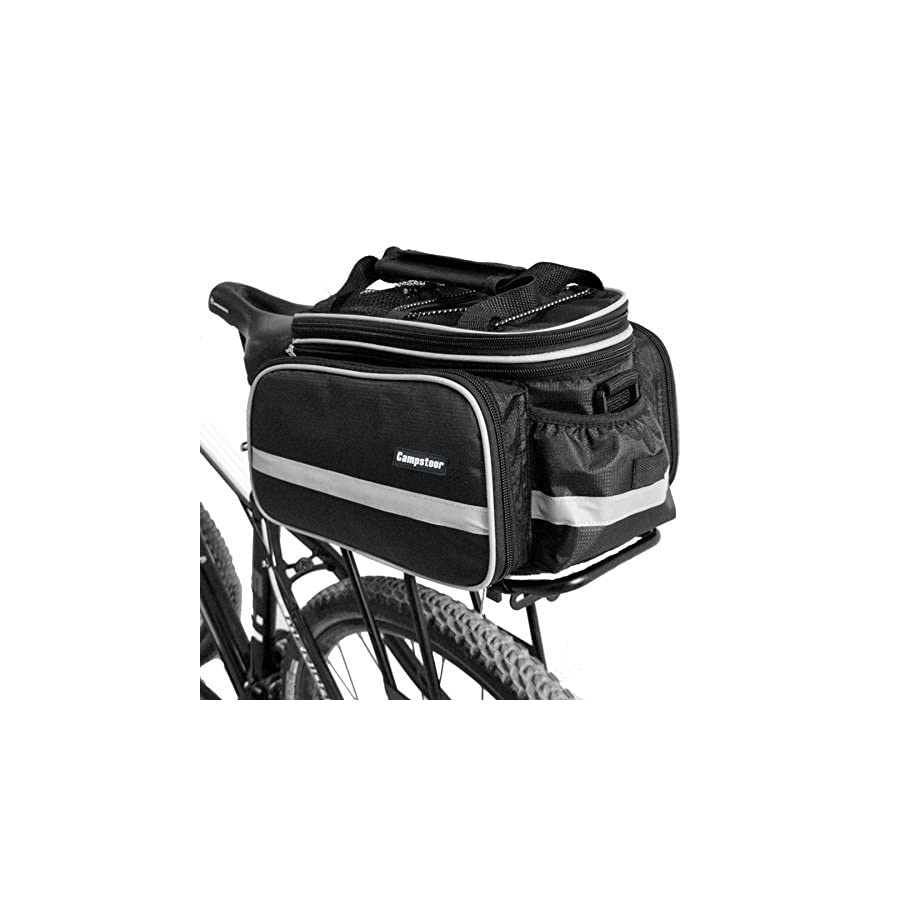 fjqxz Campstoor Mountain Bike Bag 600D Multi Functional Oxford Waterproof Bicycle Bag Cycling Rear Seat Trunk Bag Panniers Bicycle Accessories With Raincoat