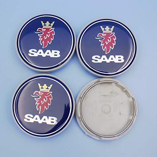 (FidgetGear New Wheel Centre Hub Cap (Set of 4) 63mm 9-3 9-5 900 12775052 for SAAB)