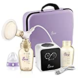 JESE Electric Single Breast Pump, Comfort Breastfeeding Breast Pump with 9 Customizable Levels, Single Baby Milk Breast Pump for Travel with Portable Bag