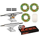 Independent SKATEBOARD Kit 149 Trucks OJ III Scum Universals 55mm Wheels Reds