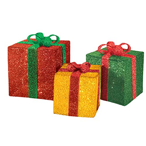 Outdoor Lighted Presents in US - 1