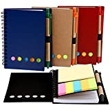 Best Pens With Notepad Sticky - Mtlee 4 Packs 4.5 by 5.5 inch Spiral Review