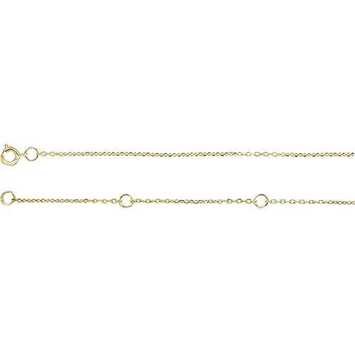 10K White Gold 1mm Diamond Cut Cable 20 Chain