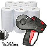 Monarch 1131 Price Gun With Labels Value Pack: Includes Monarch 1131 Gun, 160,000 Pricemarking Labels, 8 Bonus Inkers