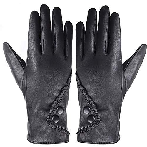 XOWRTE Womens Lady Soft Leather Gloves Winter Warm Gloves Mittens - Ssg Winter Mittens