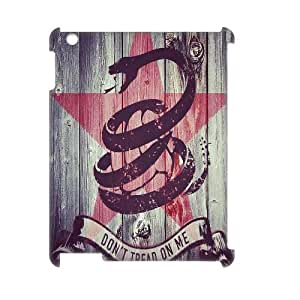 Custom Dont Tread On Me 3D Cover Case, Custom Hard Back Phone Case for iPad2,iPad3,iPad4 Dont Tread On Me
