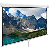 Pull Down Projector Screen 100 inch, Viewlex 100 4:3 Manual Drop Down Projection Screen Outdoor Indoor Office HD Portable Home Theater Screen for Movie TV Game Presentation Wrinkle-Free Easy to Clean