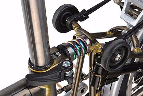 ACE BROMPTON Suspension Extra Firm Titanium Coil Spring Suspension Shock RAINBOW