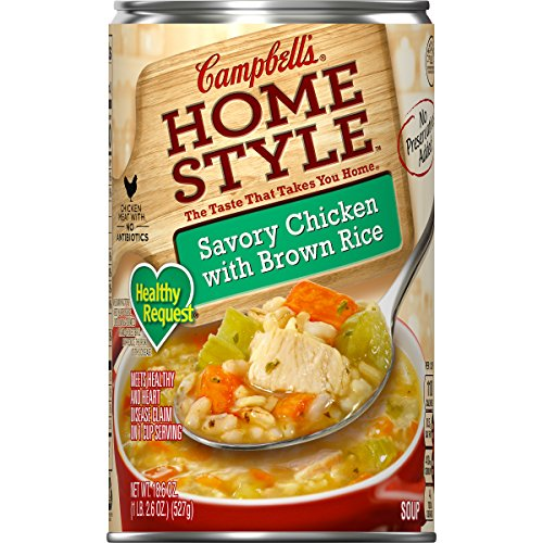 Campbell's Homestyle Healthy Request Savory Chicken with Brown Rice Soup, 18.6 ()