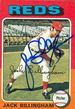 Jack Billingham autographed Baseball Card (Cincinnati Reds) 1975 Topps #235