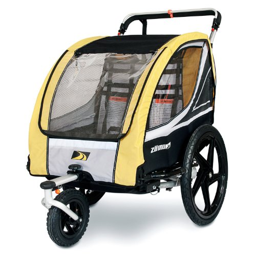Amazon.com: ZUMU 3-in-1 Bike Trailer Jogger & Stroller for 2 Kids ...