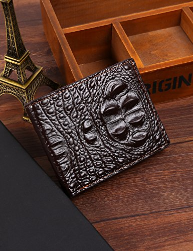 Wallet 3 Square Solid Wallet Clip Money Mini Card Style Open Holder Men's Fashion Brown 8nw4dpq77