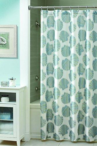 Shells Croscill (Croscill Mosaic Shells Shower Curtain, 70-Inch by 72-Inch, Spa)