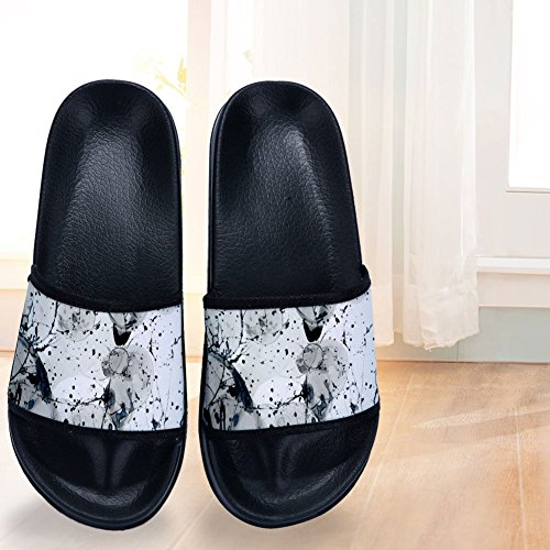 Slippers Slip Ink Splash Slippers Womens Mens Abstract Non Buteri Quick Drying B Watercolor zZwYqff