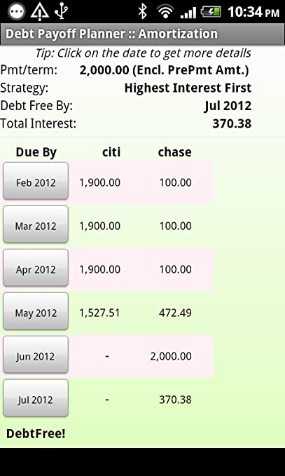 amazon com debt payoff planner appstore for android
