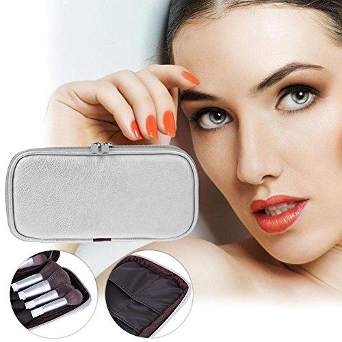 affeco Frauen Kosmetiktasche Fall PU Leder Tasche für die Make-up-Pinsel Organizer