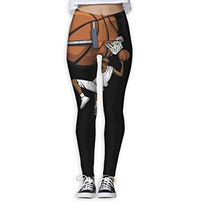 Basketball Funny Slam Dunk Women's Compression Pants Sports Leggings Tights Baselayer Trousers For Yoga&Fitness