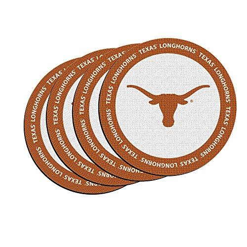 NCAA Texas Longhorns Neoprene Ring of Honor Coasters, Set of (Texas Longhorns Coaster Set)