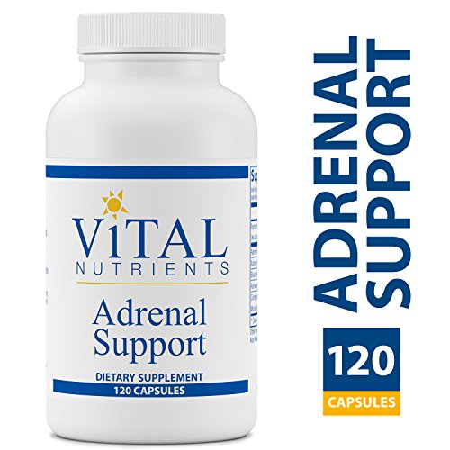 - Vital Nutrients - Adrenal Support - Suitable for Men and Women - Supports Adrenal gland function, Support Mild Stress and Anxiety, and Promotes a Healthy Immune System - 120 Capsules per Bottle