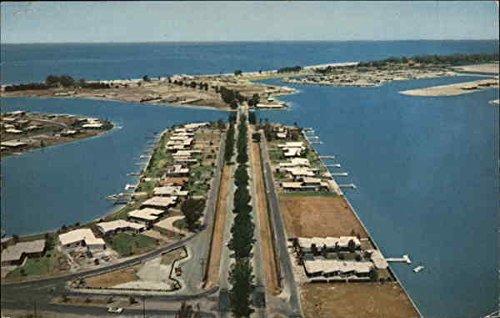 Boca Bay (Air View of Treasure Island Causeway and Boca Ciega Bay Treasure Island, Florida Original Vintage Postcard)