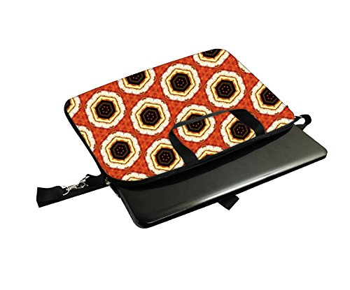 Snoogg Abstraktes Multicolor Muster 130,5cm 30,7cm 31,8cm Zoll Laptop Notebook Computer Schultertasche Messenger-Tasche Griff Tasche mit weichem Tragegriff abnehmbarer Schultergurt für Laptop Tabl