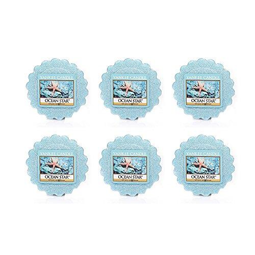Yankee Candle Lot of 6 Ocean Star Tarts Wax Melts ()