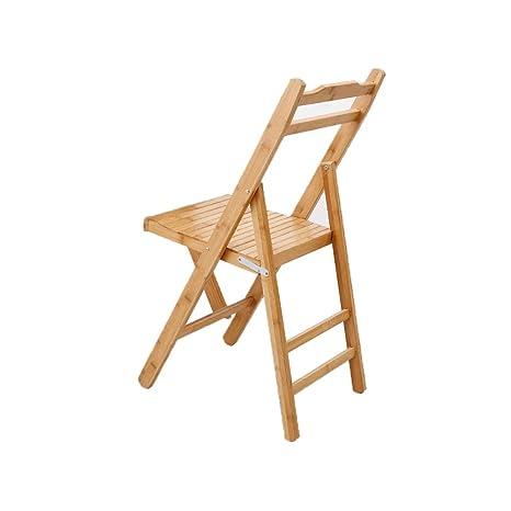 YQQ Silla De Bambú Silla Plegable Tocador Silla del Comedor ...