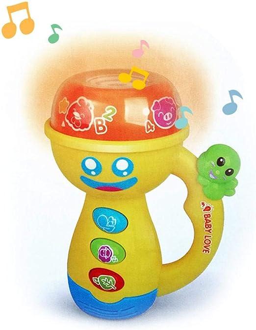 Szseven Música Proyector LED Linterna Portátil Navidad Apaciguar ...