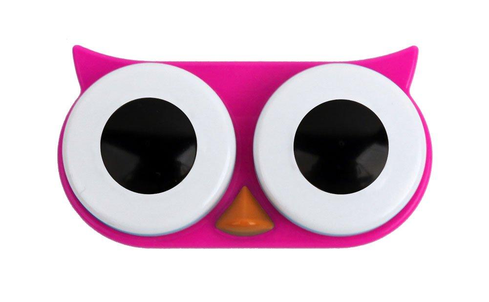 Kikkerland Retro Owl Contact Lens Case-Pink