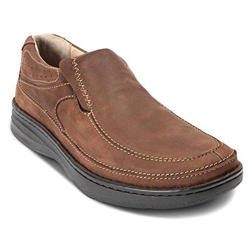 Drew Shoe Men's Bexley Leather, Polyurethane Loafers, Brown Nubuck, Size ()