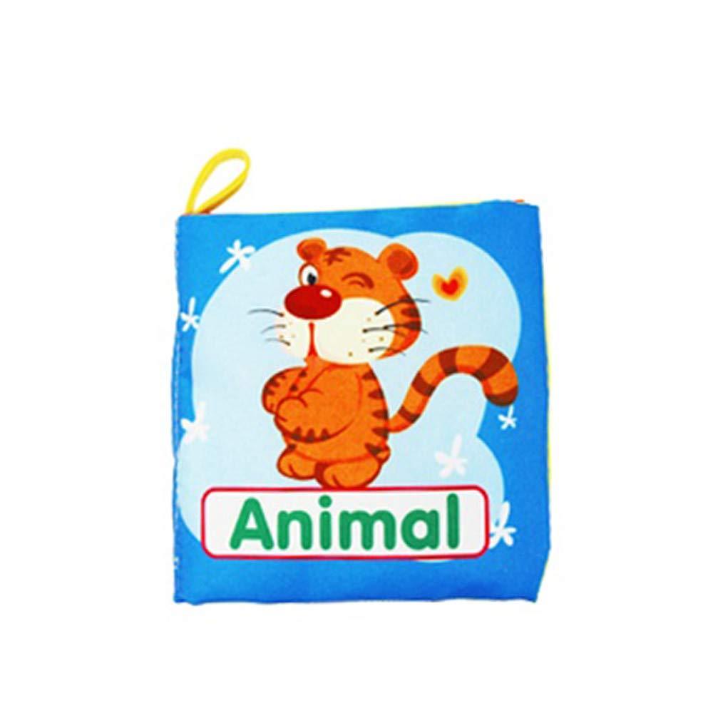 Juguetes para niños CebbayJuego de Puzzle Regalo del día de los niños,Nuevo Soft Cloth Baby Intelligence Development Aprende Picture Cognize Book