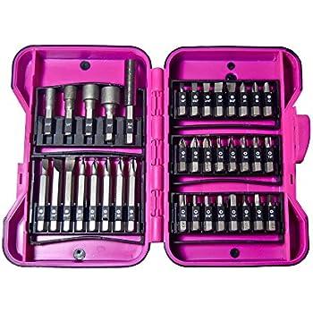 Skil SGK89033 33-Piece Pink Screwdriving Bit Set with Storage Case ...