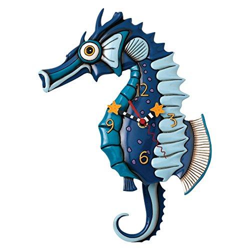 (Allen Designs Salty Seahorse Pendulum Clock)