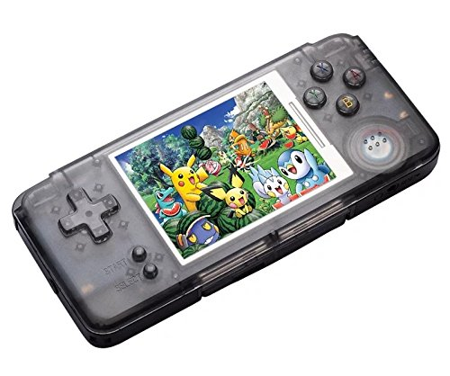 Handheld Game Console ,16GB 3 Inch HD Screen 3000 Classic Game,Support Video & Music Playing , Birthday and Holiday Best Gift for Kids (Black) by Powkiddy