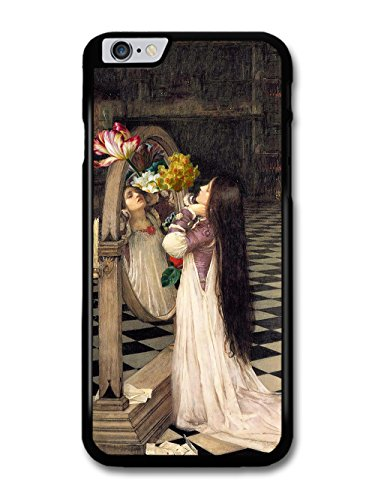 Retro Vintage Mirror Girl Painting with Flowers Floral Photo case for iPhone 6 Plus 6S Plus