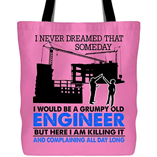 I Would Be A Grumpy Old Engineer Tote Bag for Shopping, I'm A Grumpy Old Engineer Wedding Favors Bags, Lunch Bags and More (Tote Bags - -