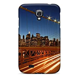Ultra Slim Fit Hard Superface Case Cover Specially Made For Galaxy S4- Brooklyn Bridge New York