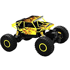 Top Race Telecomando Monster Truck RC Rock Crawler, trasmettitore 2.4Ghz, 4WD Off Road RC Car - TR-130Y 2 spesavip