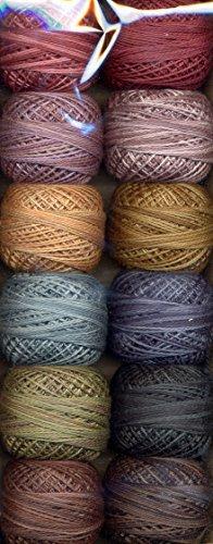 Valdani Size 12 Perle Cotton Embroidery Thread Reiko Kato Collection (PC12-ReikoKato)