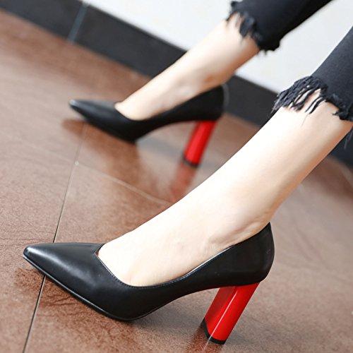 FLYRCX La seasonhigh otoño moda Black primavera Heel y shoessingle en Shoes europea personalitiessingle shoesladies rqrvdTB