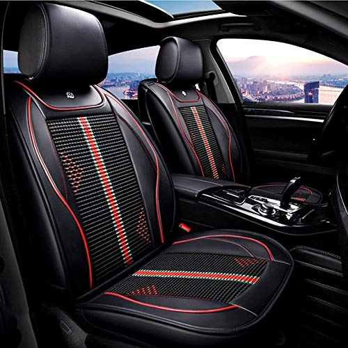 LNDDP PU Leather Ice-Silk Car Seat Cover- Anti-Slip Suede Backing Universal Fit Car Seat Cushion Compatible with Both Fabric And Leather Car Seats,Black: Sports & Outdoors