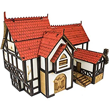 Amazon.com: War World Gaming Medieval Town Large Town House ...