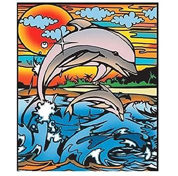 Colorvelvet 47 X 35 Cm Delfin Zeichnen Ausmalen System