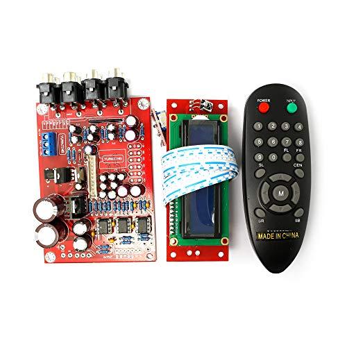 5.1 M62446 Pre-amp Board+volume Remote Control Controller 6-channel