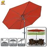 Strong Camel 9ft Patio Umbrella with Tilt and Crank 8 Ribs Outdoor Garden Market Umbrella Sunshade (Terracotta)